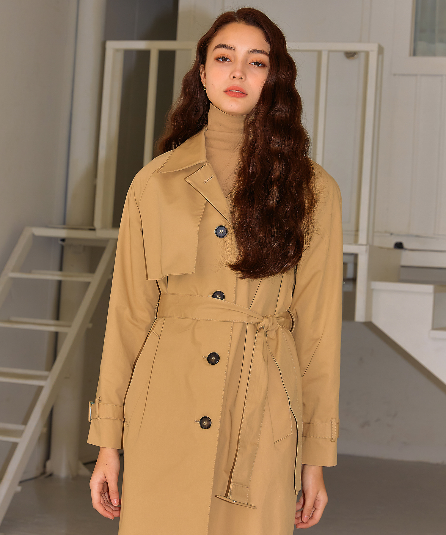 렉시스 (LEXIS)_Belted single trench Coat [Beige]