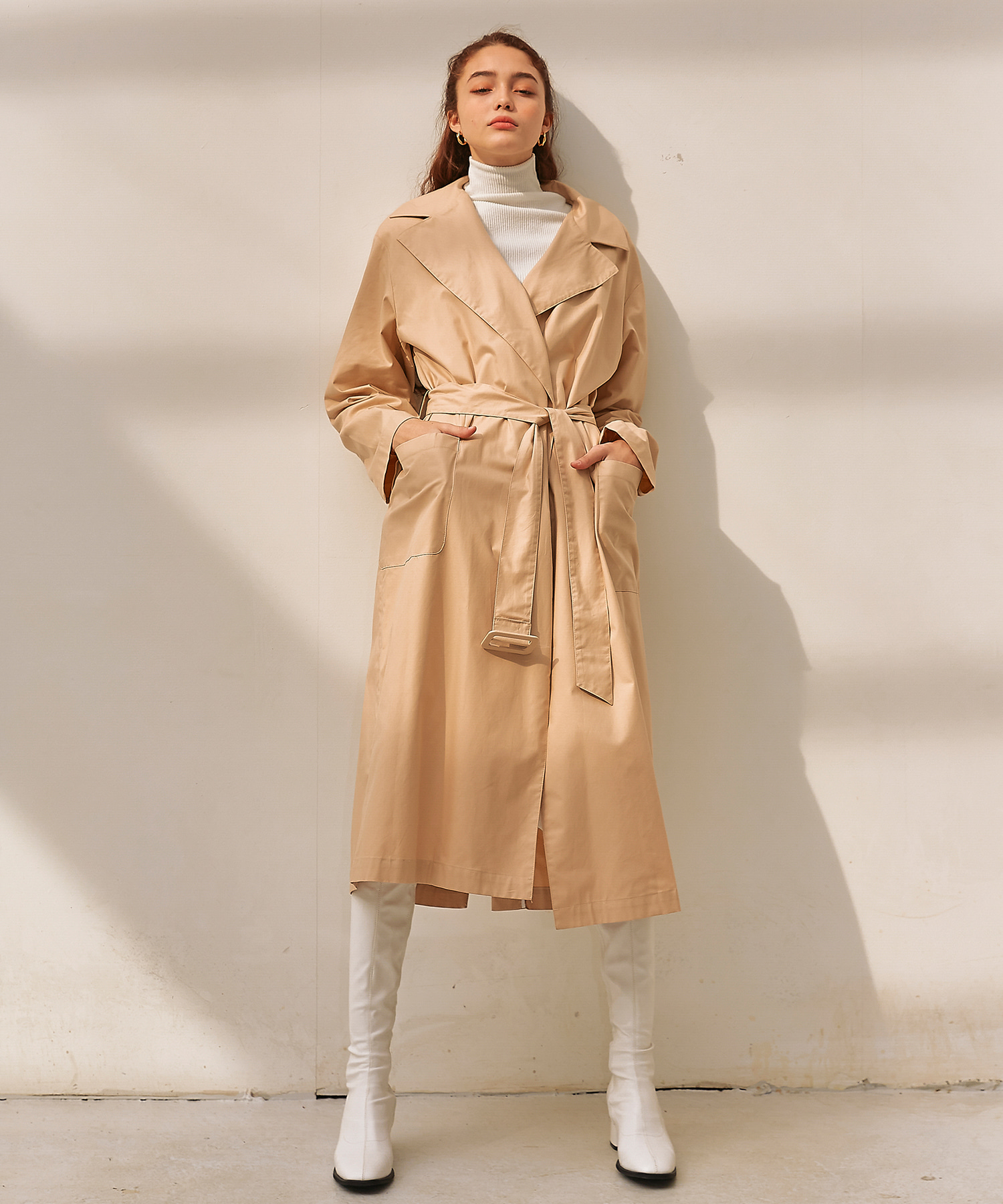 렉시스 (LEXIS)_Open Trench coat [Beige]
